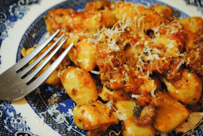 Gnocchi and sausage ragu recipe