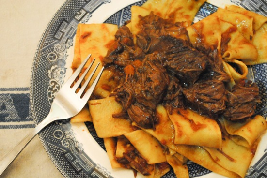 Pappardelle with slow-cooked ox cheek ragù