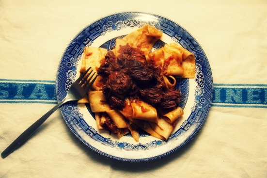 Pappardelle with slow-cooked ox cheek ragu