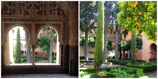 Tranquil gardens in the Alhambra